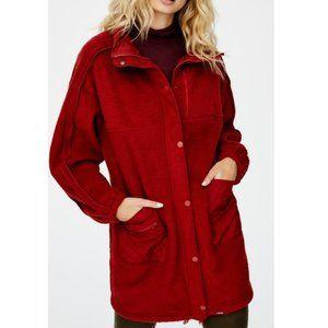 Free People Glacier Freeze Faux Shearling coat